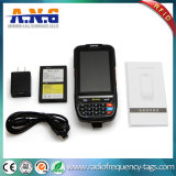 Scanner terminal tenu dans la main de code barres de position de l'androïde 5.1 avec le lecteur de RFID de fréquence ultra-haute de NFC