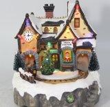 Décoration bon marché en gros de souvenir de résine de Chambre de Noël des prix DEL