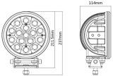 7.0 het LEIDENE Combo van de Duim 5W CREE Drijven Lichte 80W
