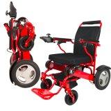 Le Portable gauche de manche pliant le fauteuil roulant électrique pour handicapé vont n'importe où