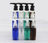 Sciampo, pompa da destra a sinistra della lozione della serratura della plastica del sapone liquido