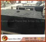 Dessus noir normal de construction préfabriquée de cuisine de granit de partie supérieure du comptoir noire absolue chinoise de granit