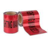 무료 샘플 유효한 빨간색 지하에 탐지가능한 경고 테이프