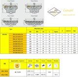 표준 맷돌로 가는 공구와 일치하는 강철 Hardmetal를 위한 Cutoutil 삽입 Fma01-050-A22-Se12-04