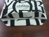 Sac à provisions organique diplômée global de coton de sac de coton, sac de vêtement en gros de tissu de coton
