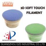 Redondo 3D de filamentos delgados filamentos de pincel de maquillaje