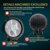 500m 6.5inchをつける卸し売り工場供給のさざ波の反射鏡4D 4X4 LEDは60W LED作業ライトを防水する
