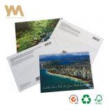 OEM Douane bedekte de Afgedrukte Kaart van de Herinnering van de Brochure Postedcards met een laag