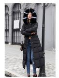 Nova camada Jacket 2018 longo Inverno Moda as mulheres jaqueta de espessura fina Fêmea Parka para colar de peles inverno quente Casaco de algodão para Mulheres