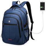 Os alunos do Colégio de moda de ressalto duplo Computador de Viagem de negócios Saco mochila de notebook com USB (CY1881)