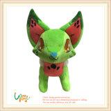 Het pluche Gevulde Dierlijke Groene Stuk speelgoed van Doll van de Ogen van het Borduurwerk van de Vos