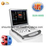 Дешевый портативный 3D цветового доплеровского ультразвукового аппарата Sun-906s цена