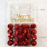 Caja de regalo mezcla de decoración de Navidad Bolas de plástico G71