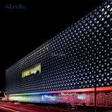 Perforiertes Dreieck-Aluminiumblatt, Aluminiumfurnier-blatt für Gebäude-Fassade