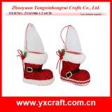 Artesanía de la Navidad del perro de la Navidad de la decoración de la Navidad (ZY14Y01A el 16CM)