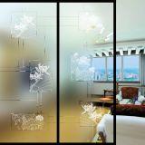 Partition en verre givrée Tempered d'écran en soie pour la décoration