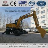 China stellte Exkavator-Maschine des Rad-Exkavator-Bd95 mit grosser Wanne für Verkauf her