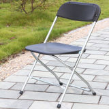 Хромированный черный Складной стул для школ