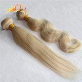 Morbido dei capelli umani di Remy del Cambodian di colore chiaro 100% e liscio di trama