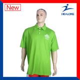 Healong alguma do logotipo da roupa da transferência térmica da impressão do poliéster camisa 100% de polo