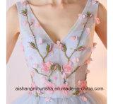 Короткое замыкание Sexy V-образный вырез горловины плечевые ремни с цветочным рисунком тюль Putty платье Ппзу Openboot
