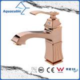 Torneira de torneira de água de lavatório de bronze de ouro polido