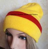 Chapéu de confeção de malhas do jacquard da fábrica do chapéu do OEM da alta qualidade