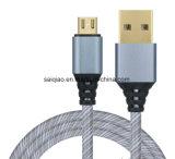 Gold überzogenes USB-aufladendaten-Kabel