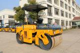 4 톤 기계적인 두 배 드럼 롤러 쓰레기 압축 분쇄기 Yzc4의 저가