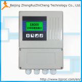 Medidor de fluxo eletromagnético de E8000dr RS485 220VAC, medidor de fluxo 24VDC magnético