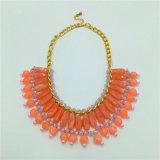 New Style Stone Beads Necklace Jóias de liga