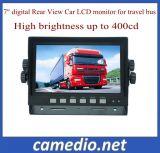 7inch 2-CH Digital LCD monitor del coche Monitor de la vista posterior para el autobús del coche de bomberos