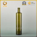 Botellas de cristal redondas del aceite de oliva 750ml con el tapón de tuerca (027)