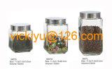 grandi vasi di vetro quadrati di memoria dell'alimento 1300ml~2100ml con la protezione del metallo