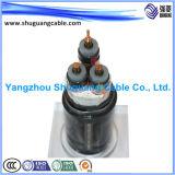 Yjy23 среднее напряжение тока XLPE изолировало силовой кабель обшитый PE Armored