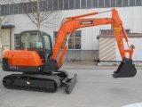 Máquinas escavadoras da máquina escavadora 5.5ton da esteira rolante de Baoding mini