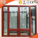 Алюминия дверная рама перемещена из дуба Windows, новейшие разработки высококачественной деревянной конструкции решетки окна