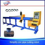 Cortadora automática de llama del plasma del CNC para el tubo de acero redondo