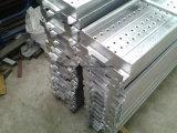 Planche d'échafaudage en métal utilisée pour la construction