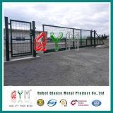 double frontière de sécurité de fil soudée enduite par PVC galvanisée de la poudre 3D
