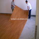 PVC de la fibre de bois 1.2mm parquetant l'utilisation d'intérieur