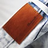 Patch de couro camurça etiqueta impressa para vestuário