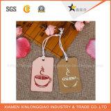 Étiquette de tissu de vêtement d'étiquette tissée par tissu fait sur commande de vêtement de collant d'impression