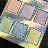 Cor holográfico Eyeshadow Poplular Eyeshadow iridiscente Composição de cores