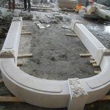 Bordi di lusso del portello della parte superiore della colonna della colonna della pietra della decorazione dell'edilizia