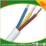 Cable ignífugo flexible certificado Ce del cable H03vvh2-F del PVC