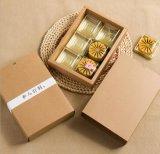 Caixa dobrada personalizada e por atacado de Mooncake do papel de embalagem De classe elevada, 6 blocos da caixa de Mooncake