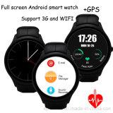 3G Plein écran Ronde Smart montre téléphone portable avec carte SIM et la Femme (X1)