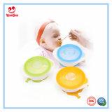 Melhor tigela de sucção de alimentação de bebê com otário de dupla face