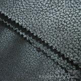 Tessuti del sofà di Nubuck del cuoio della pelle scamosciata del poliestere della stampa della stagnola